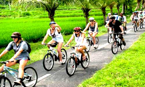 bali cycling, bali hiking